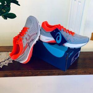 Asics GT-1000 Running/Walking Shoes, Grey & Coral